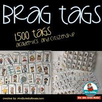 brag tags, improve student behavior, MrsQuimbyReads, back to school