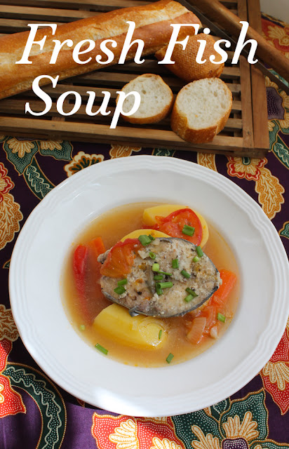Food Lust People Love: This fresh fish soup recipe makes a nutritious pot of deliciousness, perfect for a chilly winter night, but equally enjoyable on a summer evening because it is so light and flavorful. Best of all, it's very easy to make.