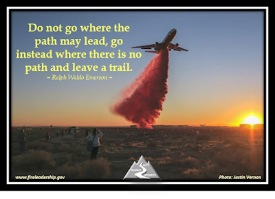 Do not go where the path may lead, go instead where there is no path and leave a trail.  ~ Ralph Waldo Emerson ~ (DC-10 air tanker dropping retardant)