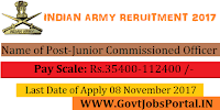 Join Indian Army Recruitment 2017 –72 Junior Commissioned Officer