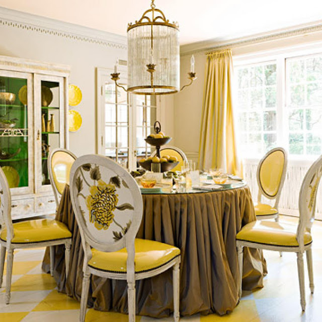 50 Bold And Inventive Dining Rooms With Brick Walls: House Beautiful: Accent Yellow June 26, 2017