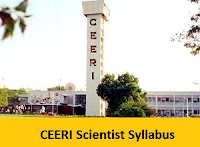 CEERI Scientist Syllabus