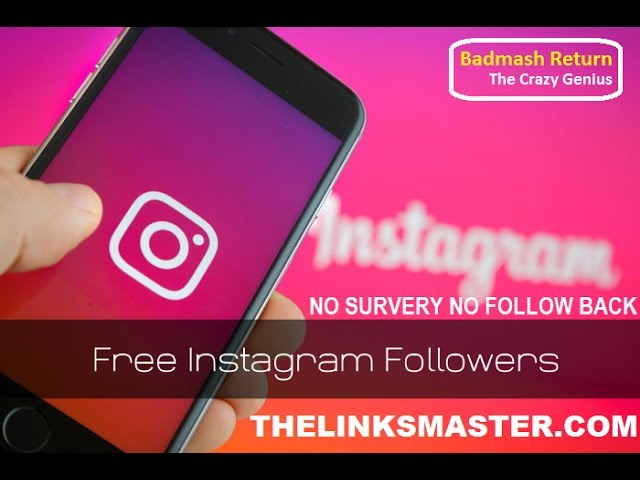 Get Free Instagram Followers Fast (In Seconds)| No Survery No
