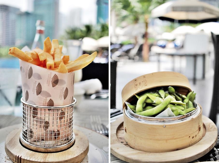 aqua restaurant mandarin oriental edamame