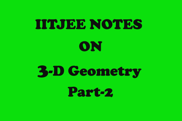 3d Geometry important questions