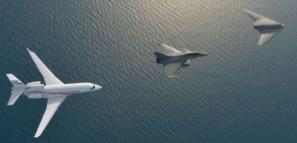 nEUROn, Rafale dan Falcon 7X