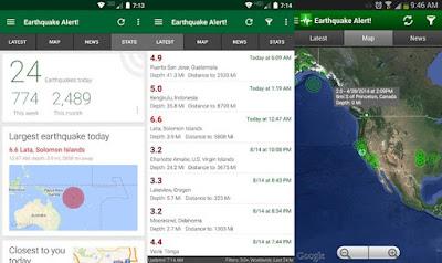 Aplikasi Earthquaker Alert