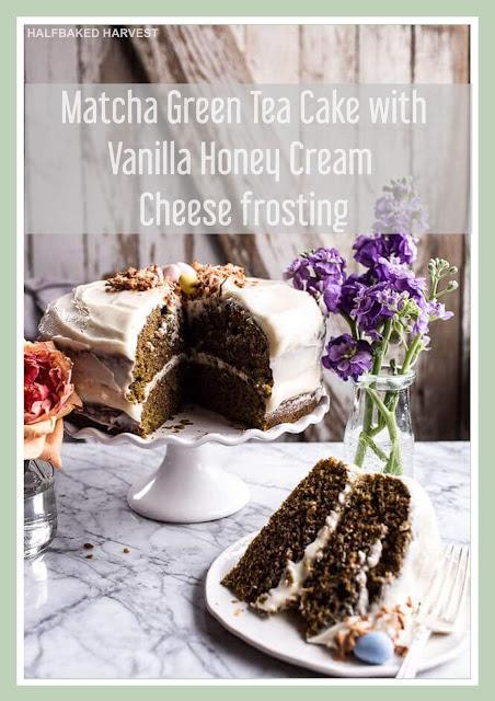 Matcha Green Cake With Vanilla Honey
