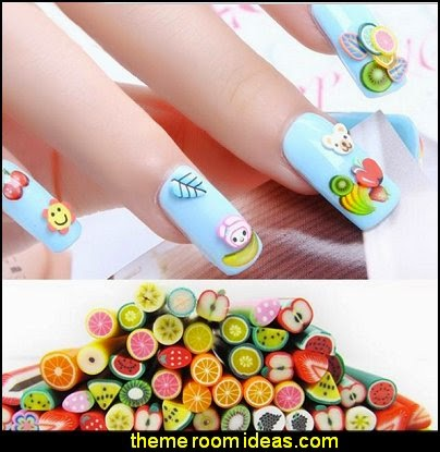 nail art - fruit nail designs - fruit nail art -  fruit slice nail art design ideas - fruit nail designs - fruits vegetables food nail decal designs - cute nails - nail art design ideas - themed nail decals - cute nail decals - cute nail stickers -