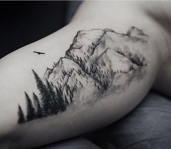 Amazing Mountain Tattoo For Men