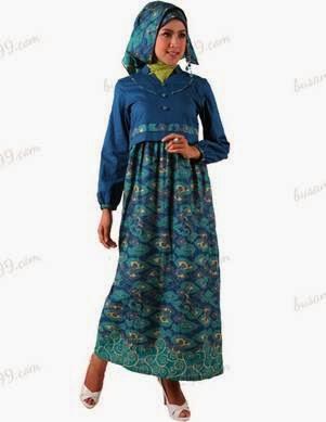 Contoh model baju batik muslim modern tren sekarang