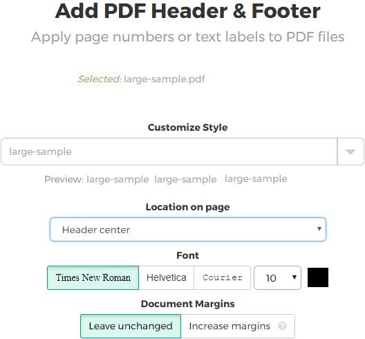 situs gratis untuk menambahkan header dan footer ke file PDF Cara Menambahkan Header Footer dan Page Number Ke File PDF Secara Online