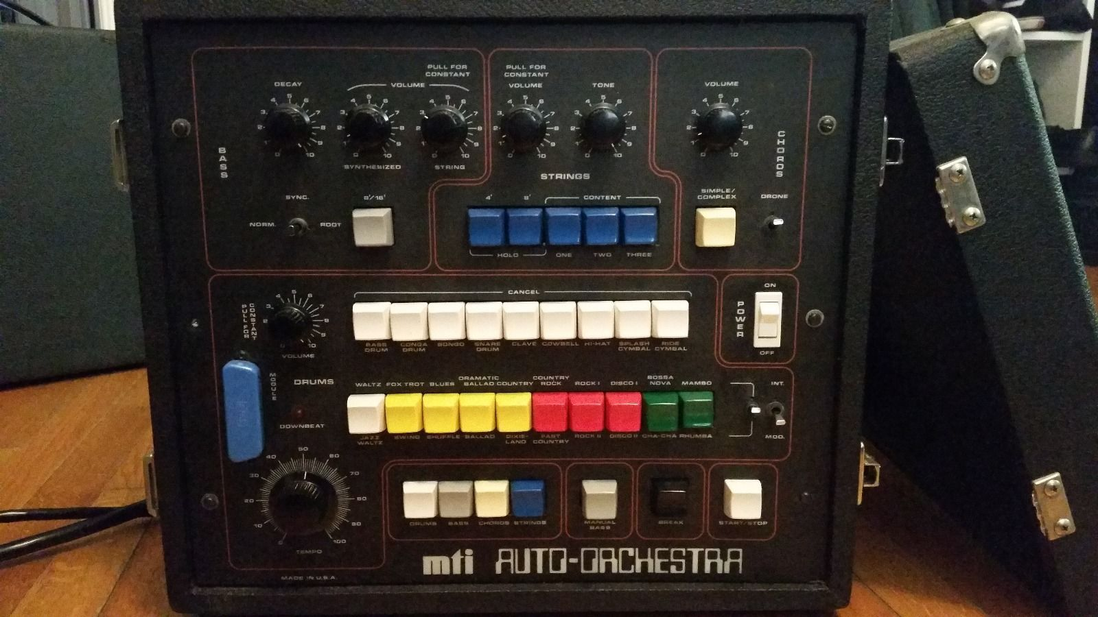 matrixsynth vintage mti auto orchestra drum machine with bass pedals. Black Bedroom Furniture Sets. Home Design Ideas