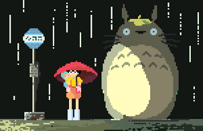 Ghibli Blog: Artist Spotlight: Studio Ghibli Pixel Art by Richard J. Evans