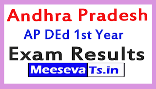 AP DEd 1st Year Exam Results 2017