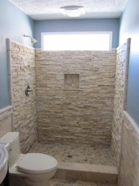 kamar mandi kecil sederhana minimalis batu alam