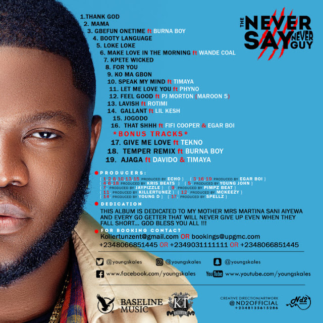 "Skales Unveils Album Art & Tracklist To ""The Never Say Never Guy"" Album"