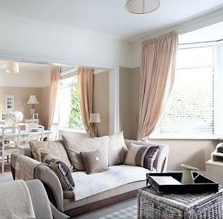 warna cat rumah mewah Cokelat-Putih