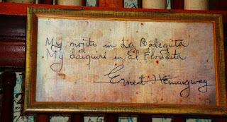 """""""My mojito in La Bodeguita, My daiquiri in El Floridita"""""""