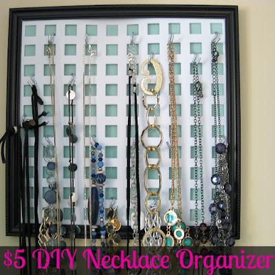 To-Do: Organized 31's DIY Necklace Organizer - Check out this cheap and easy DIY necklace organizer.