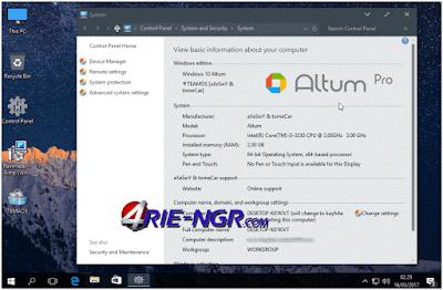 Windows 10 Altum Pro 1607 x64 Full Version