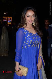 Telugu Actress Tejaswi Madivada Pos in Blue Long Dress at Nanna Nenu Na Boyfriends Audio Launch  0067.JPG