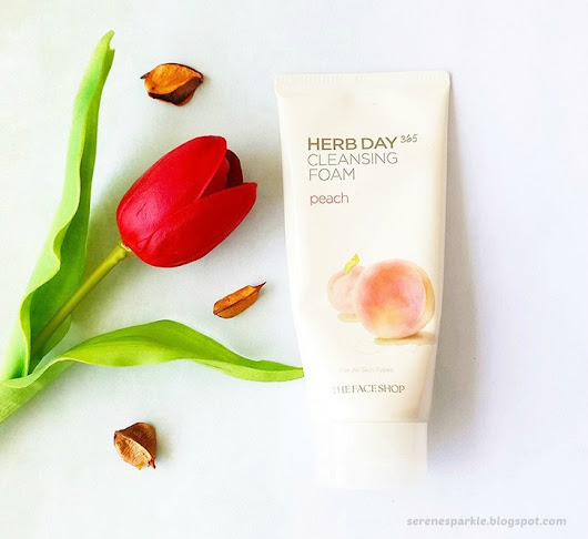 The Face Shop Herb Day 365 Cleansing Foam Peach Review