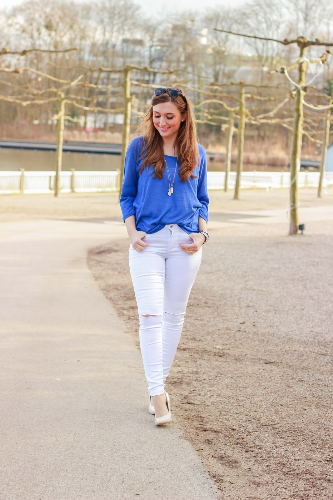 Frankfurt - Fashionblogger aus Frankfurt - Frankfurt Blogger - German Fashionblogger - Fashionblog - Weiße Hose - Weiße Jeans - Streetstyleinspiration  - Bad Nauheim