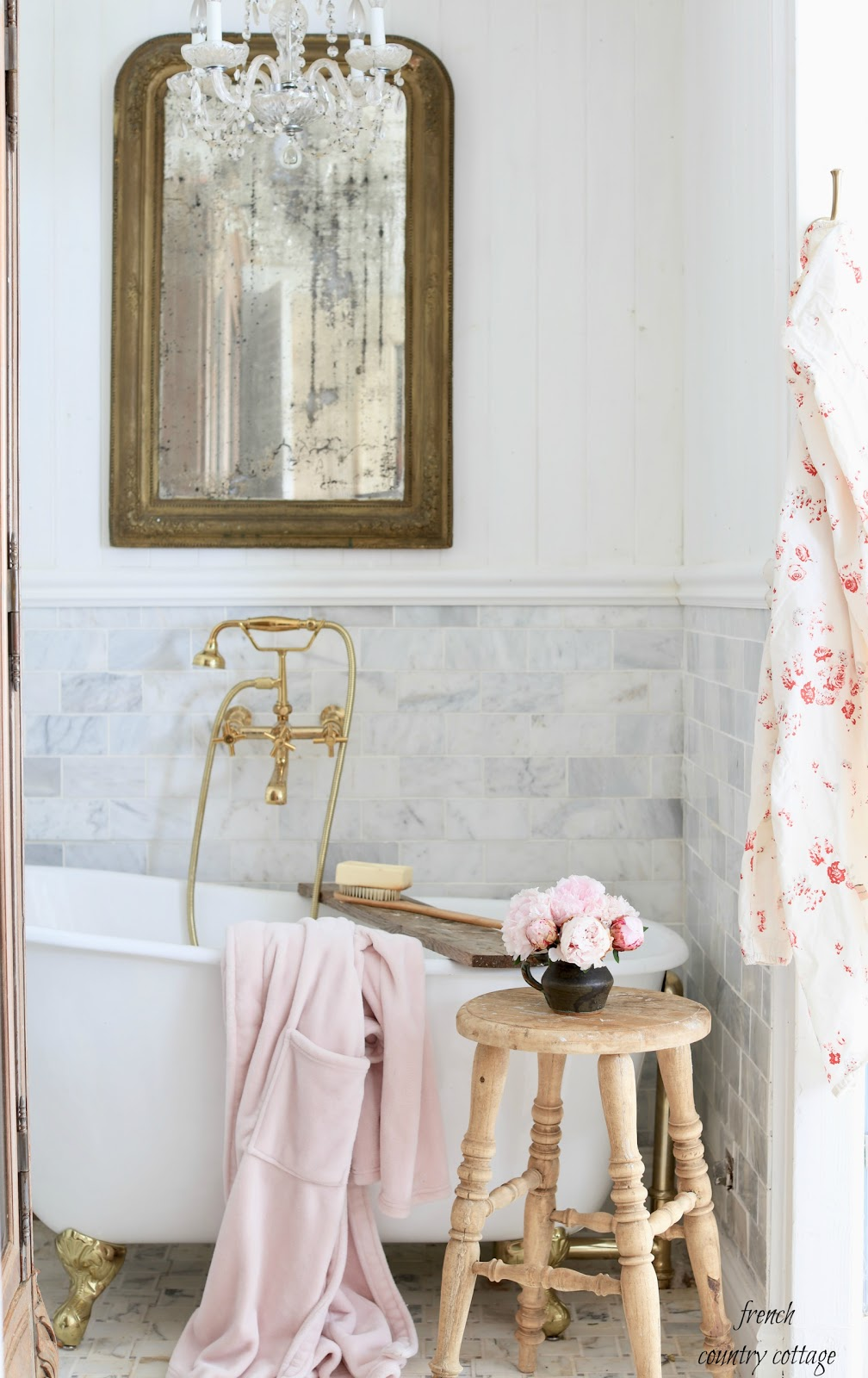 French Cottage Charm To Your Bathroom