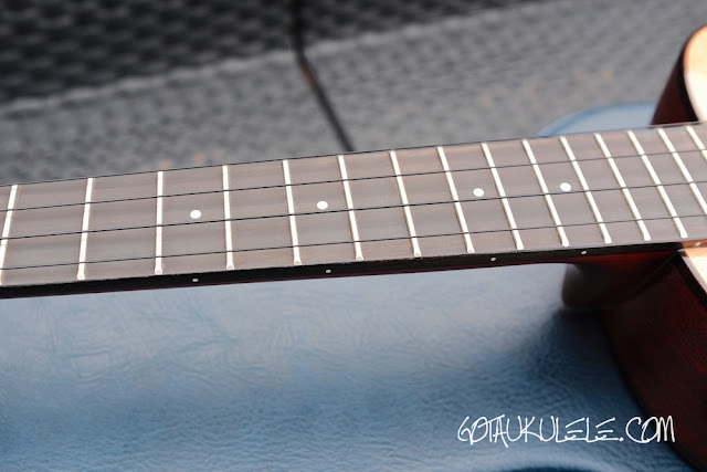 aNueNue Light Bird Tenor Ukulele fingerboard