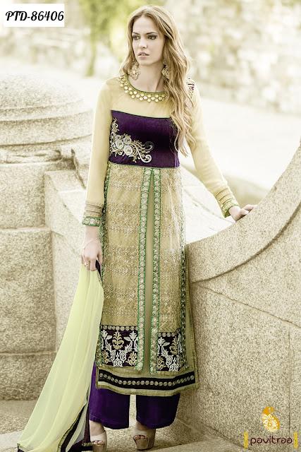 New Fancy Pakistani Palazzo Salwar Kameez Online Collection