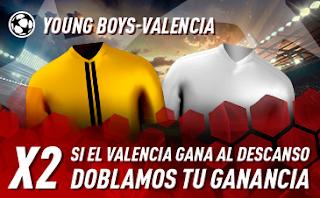 sportium Promo Young Boys vs Valencia 23 octubre