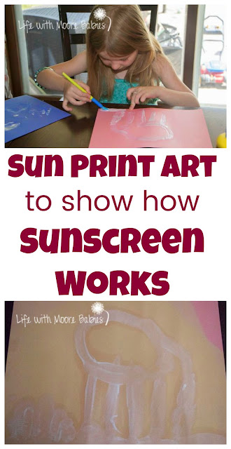 How to Make Sun Prints using Sunscreen