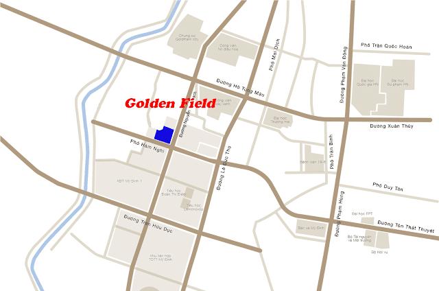 Vị trí chung cư Golden Field Mỹ Đình