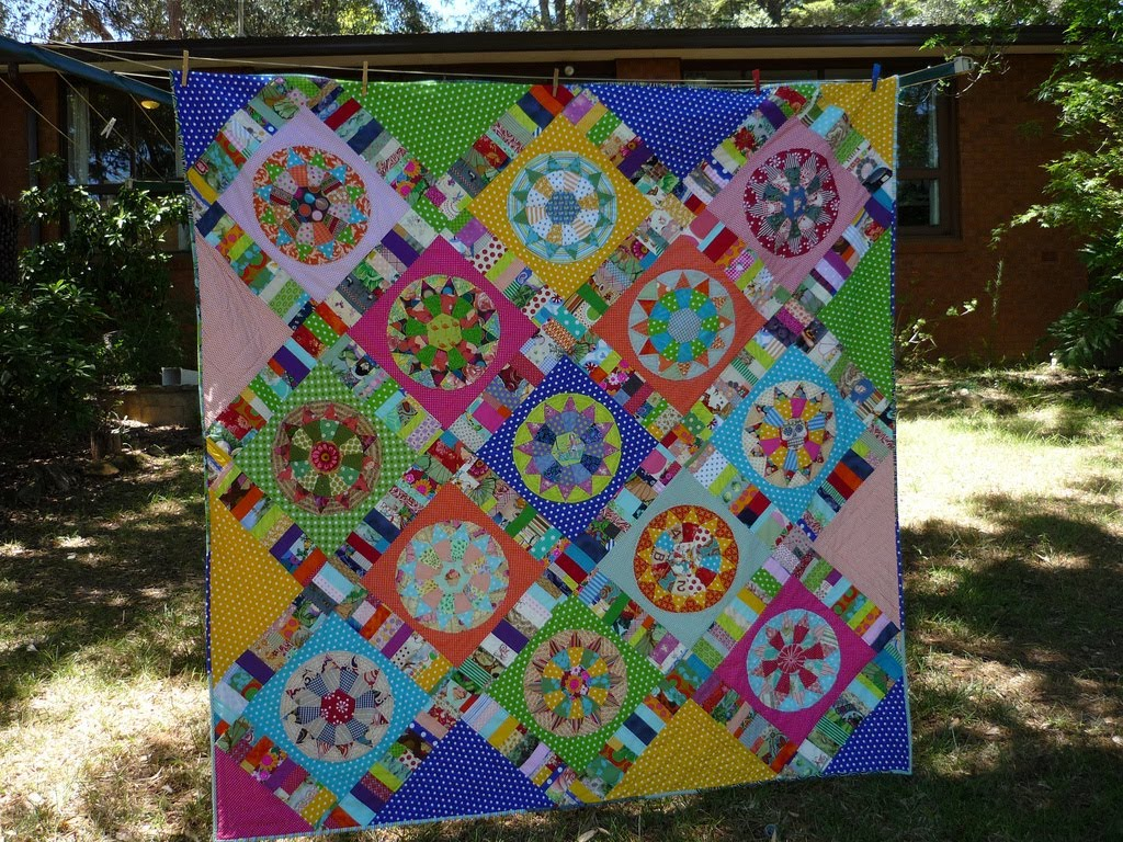 Blue Mountain Daisy My Quilts