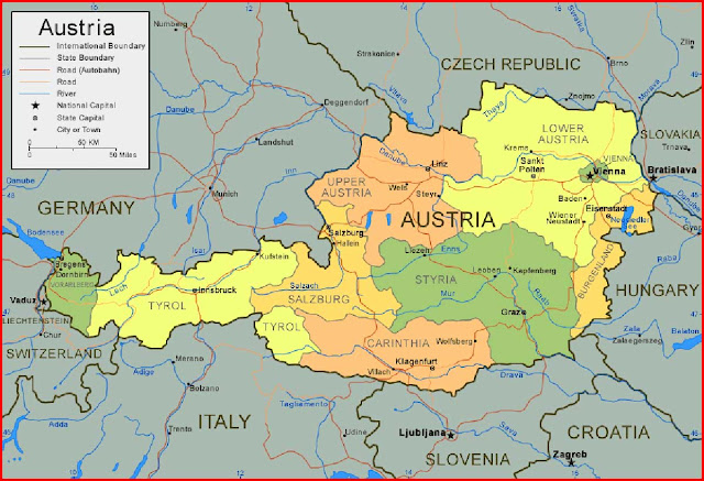 image: Austria Map High Resolution