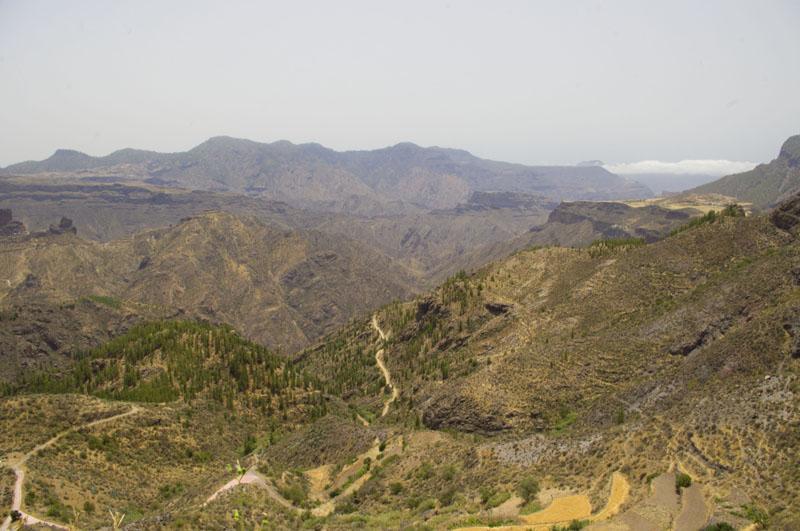 widok, Gran Canaria, góry, turystyka