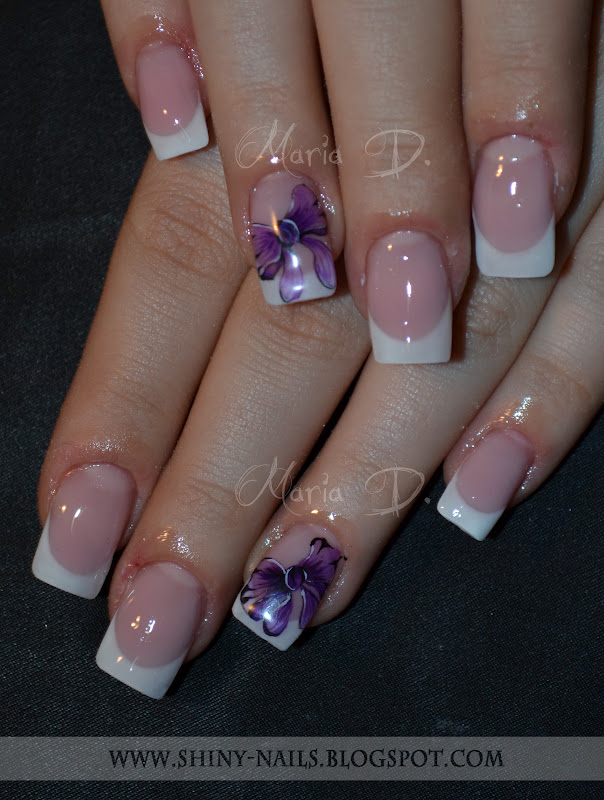 Shiny Nails By Maria D Watercolor Bow