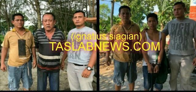 Kedua tersangka narkoba di Tanjungbalai.