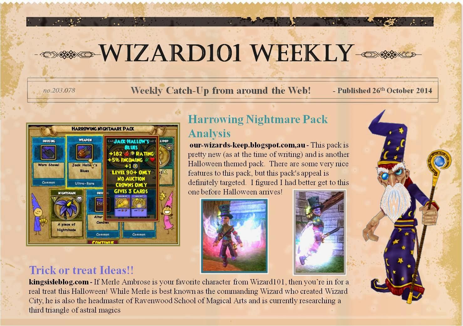 Wizard101 - Wizards Keep: October 2014