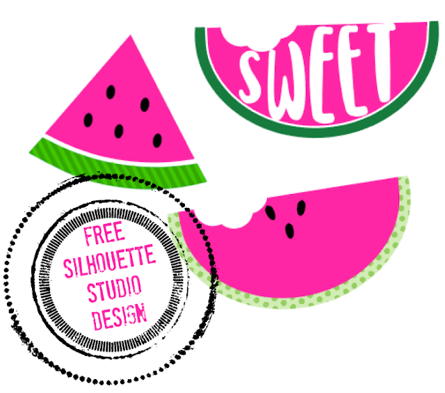 Free watermelon silhouette studio design for Silhouette CAMEO