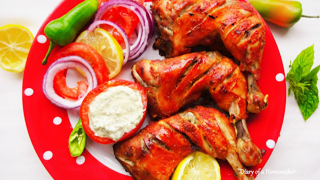 tandoori-chicken-without-tandoor-recipe-Indian-cumin-red-chilli-coriander-yogurt-lemon-juice-restaurant-style-