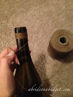 Twine-Wrapped Wine Bottle