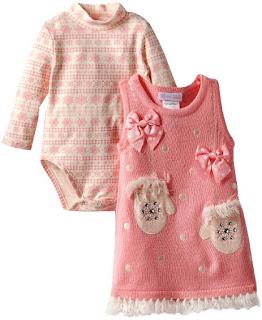 Model Baju Bayi Permpuan Cantik dan Lucu Warna Pink