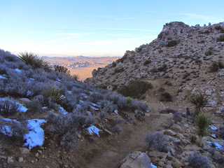View north from the saddle on Ryan Mountain Trail, Joshua Tree National Park