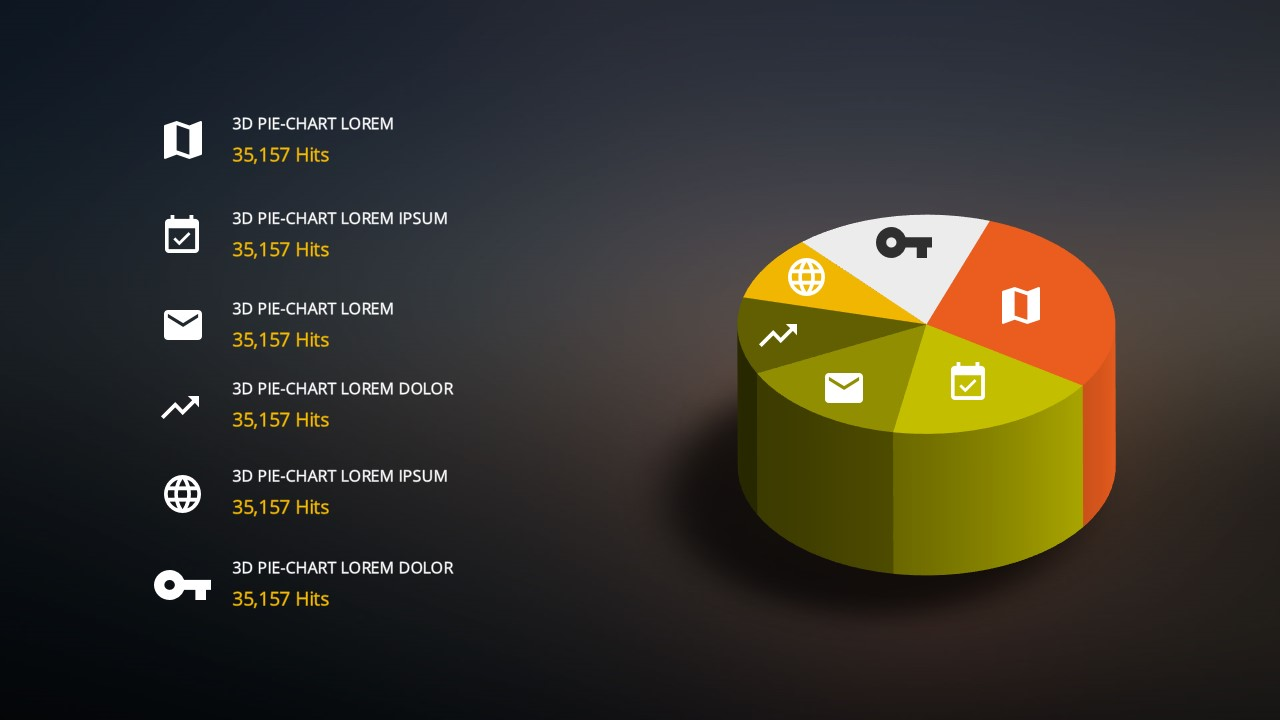 Free PowerPoint templates with 3D Pie Chart Design Elements