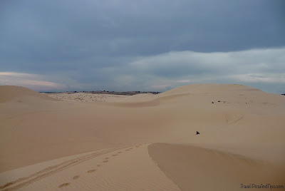 The white sand dunes in Mui Ne in Vietnam