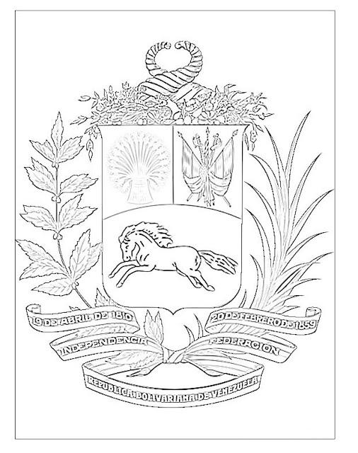 escudo de venezuela para colorear geography blog escudo de