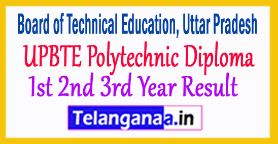 UPBTE 1st/ 2nd/ 3rd Year Diploma Polytechnic Result 2018