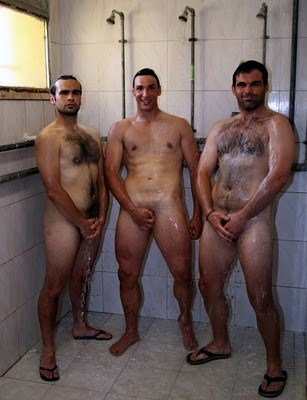 Straight men shower
